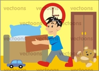 Boy Picking Up Toys Cleaning People Others Buy Clip Art Buy
