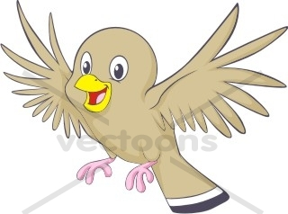Cute Flying Brown Bird - Bird - Animals - Buy Clip Art ...