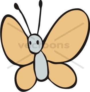 simple butterfly cartoon flying - Simple Cartoon Pics