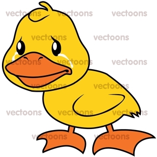 yellow duckling crying duck animals buy clip art buy rh vectoons com yellow duckling clipart cute duckling clipart