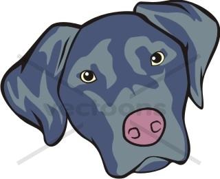 Cute Black Labrador Cartoon Dog Animals Buy Clip Art Buy Illustrations Vector Royalty Free