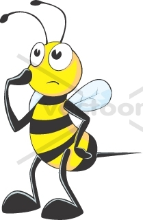 THINKING BEE cartoon - Animals - Buy Clip Art | Buy ...